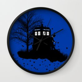 Tardis Shadow Wall Clock