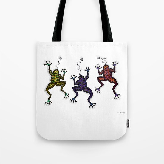 DANCING FROGS II Tote Bag