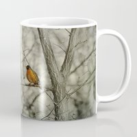 robin Mugs featuring Robin by Dorothy Pinder