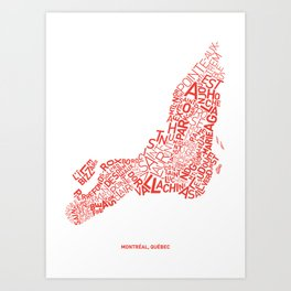 All Types in Montreal_White Background Art Print