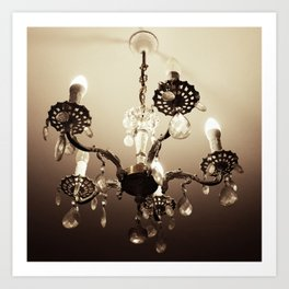 electric candelabrum Art Print