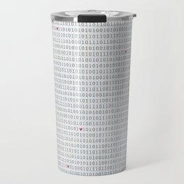 Binary Code Love Travel Mug