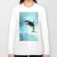 orca Long Sleeve T-shirts featuring The orca by nicky2342