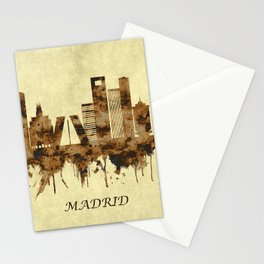 Madrid Spain Cityscape Stationery Cards