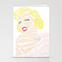 verse Stationery Cards featuring Marilyn Verse by Kaitlyn Brown