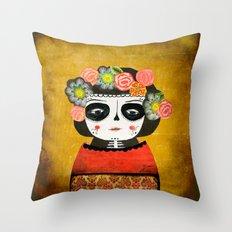 La Calaverita Throw Pillow
