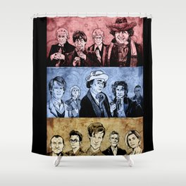 Doctor Who - Three Colours Who Shower Curtain