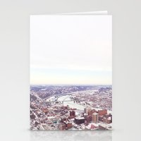 pittsburgh Stationery Cards featuring Ice Pittsburgh by clairemac