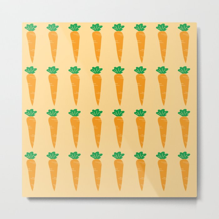 carrots pattern Metal Print