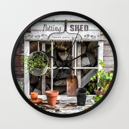 Potting Shed At Work Wall Clock