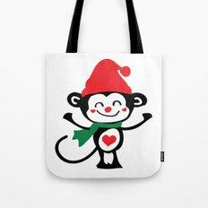 Little Monkey Santa Claus Tote Bag