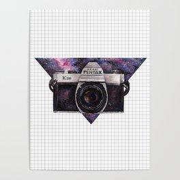 Pentax K1000 (Purple Nebula) Poster