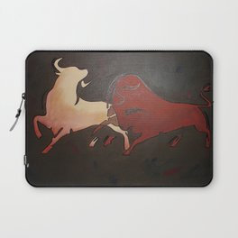Two Fighting Bulls Laptop Sleeve