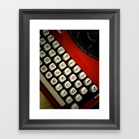 Typewriter Framed Art Print