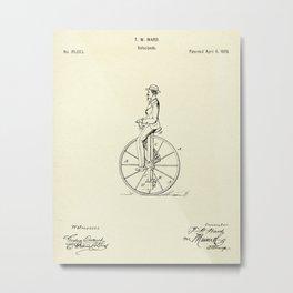 Velocipede-1869 Metal Print