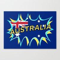 australia Canvas Prints featuring Australia by mailboxdisco