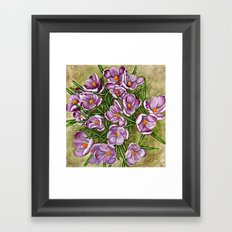 Springs First Kiss Framed Art Print