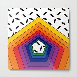Rainbow Pentagon Metal Print