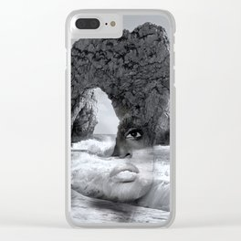 against the sea Clear iPhone Case