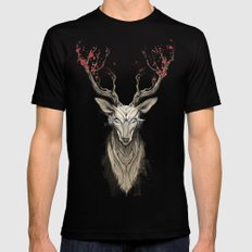 Deer tree Black Mens Fitted Tee MEDIUM