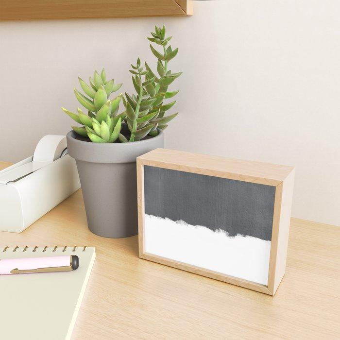White Paint on Concrete Framed Mini Art Print