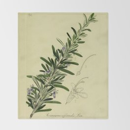 Botanical Rosemary Throw Blanket