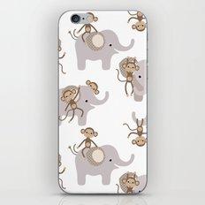 Monkey and elephant iPhone & iPod Skin