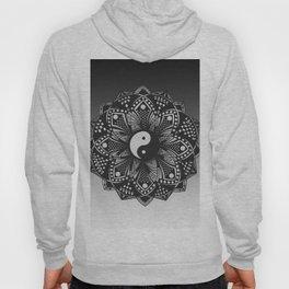 Yin and Yang Mandala (Black & White) Hoody