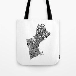 Typographic New England Tote Bag