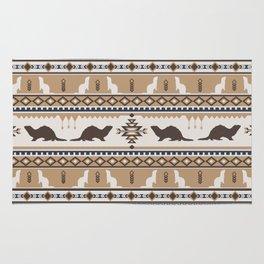 Boho Animals | Ferret tan Rug