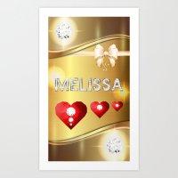 melissa smith Art Prints featuring Melissa 01 by Daftblue