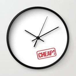 Wife for Rent Cheap Family Member Joke T-Shirt Wall Clock