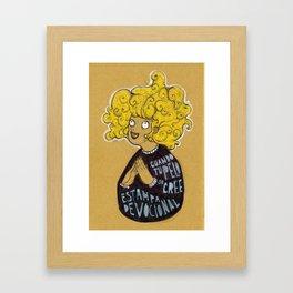 Cuando tu pelo se cree estampa devocional Framed Art Print