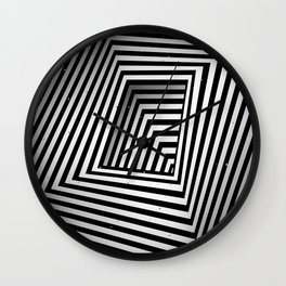 Perspective structure V Wall Clock