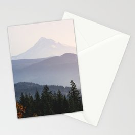 Mount Hood over the Columbia River Gorge Stationery Cards