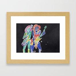 Guitar Girls Framed Art Print
