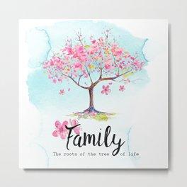 Family pink Metal Print