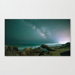 Milky way in the sky of Sardinia Canvas Print
