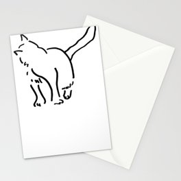 Looking back Kitten Stationery Cards