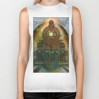 train Biker Tanks featuring Train by evisionarts