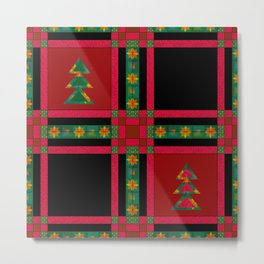 Christmas. Patchwork . Metal Print