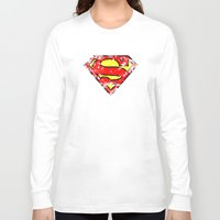 superman Long Sleeve T-shirts featuring Superman by sambeawesome