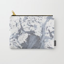 Indigo Paint Splatter Two Carry-All Pouch