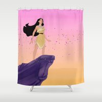 pocahontas Shower Curtains featuring Pocahontas #2 by Vita♥G