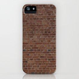 NYC Big Apple Manhattan City Brown Stone Brick Wall iPhone Case