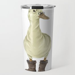 duck in boots  Travel Mug