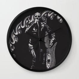 He Has A Grudge  Wall Clock