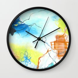 The Dreaming - Square Abstract Expressionism Wall Clock