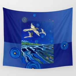 Long-Tailed Cuckoo & The Explorers Wall Tapestry
