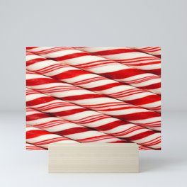 Candy Cane Pattern Mini Art Print